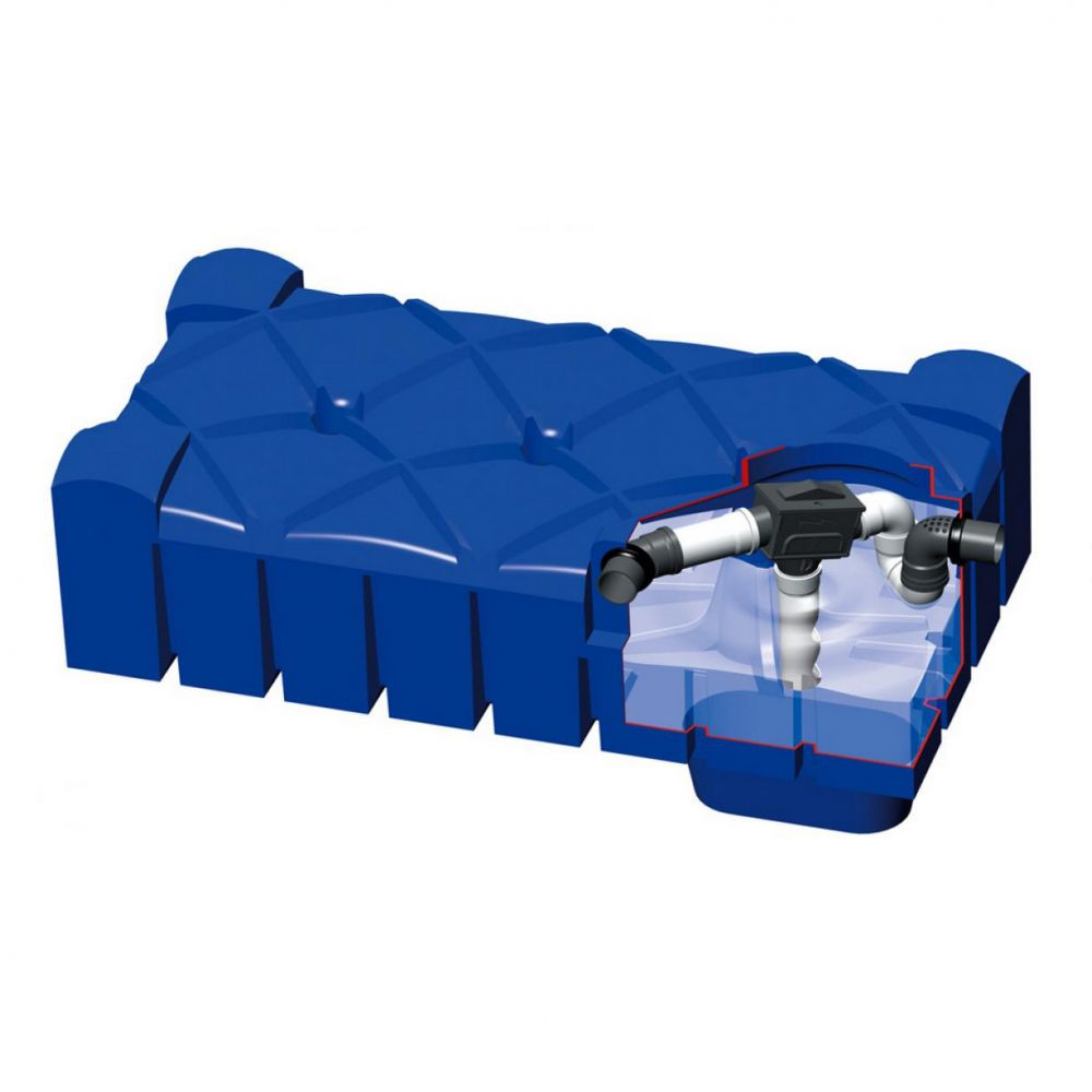 Plastová nádrž na vodu F-LINE 1500 l s filtrem