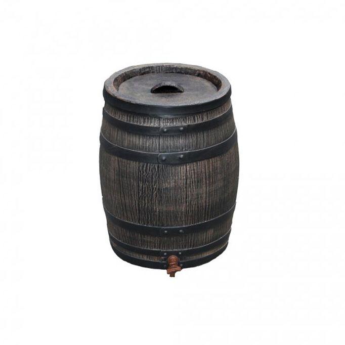 Okrasný plastový sud 50 l - imitace dřeva