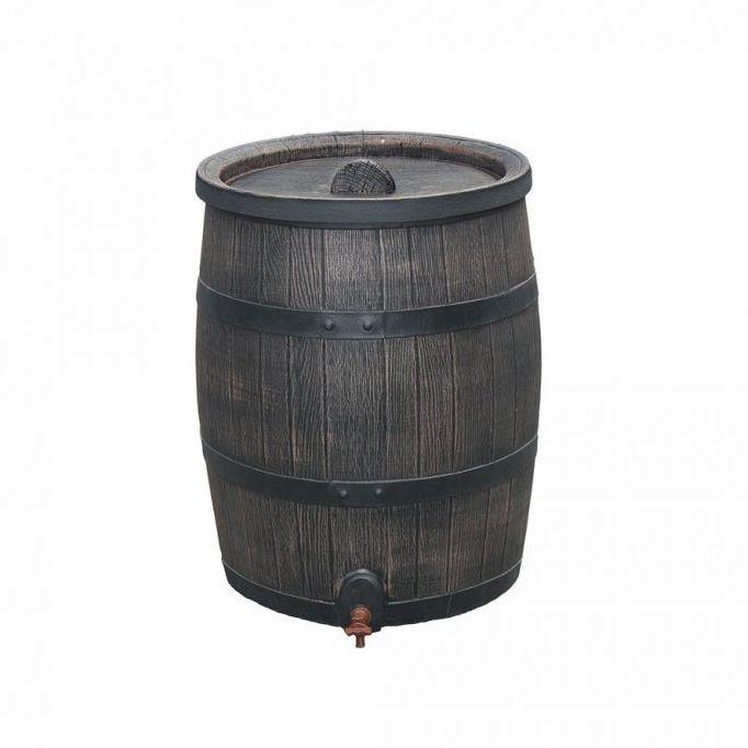Okrasný plastový sud 120 l - imitace dřeva